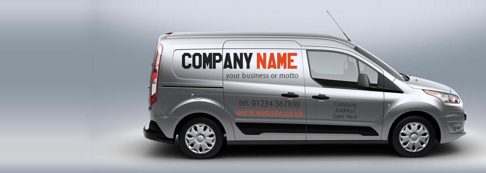 Vinyl van lettering